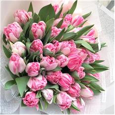 Deluxe bouqet Pink Tulips