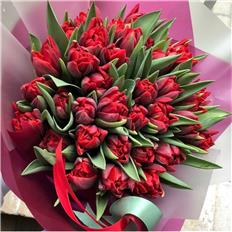 Deluxe bouqet Red Tulips